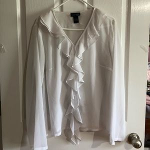 White Venezia jeans clothing company blouse 14/16